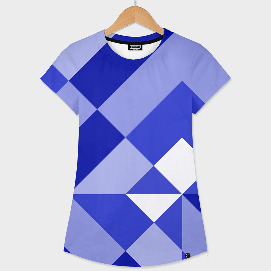 Blue and White Geometric