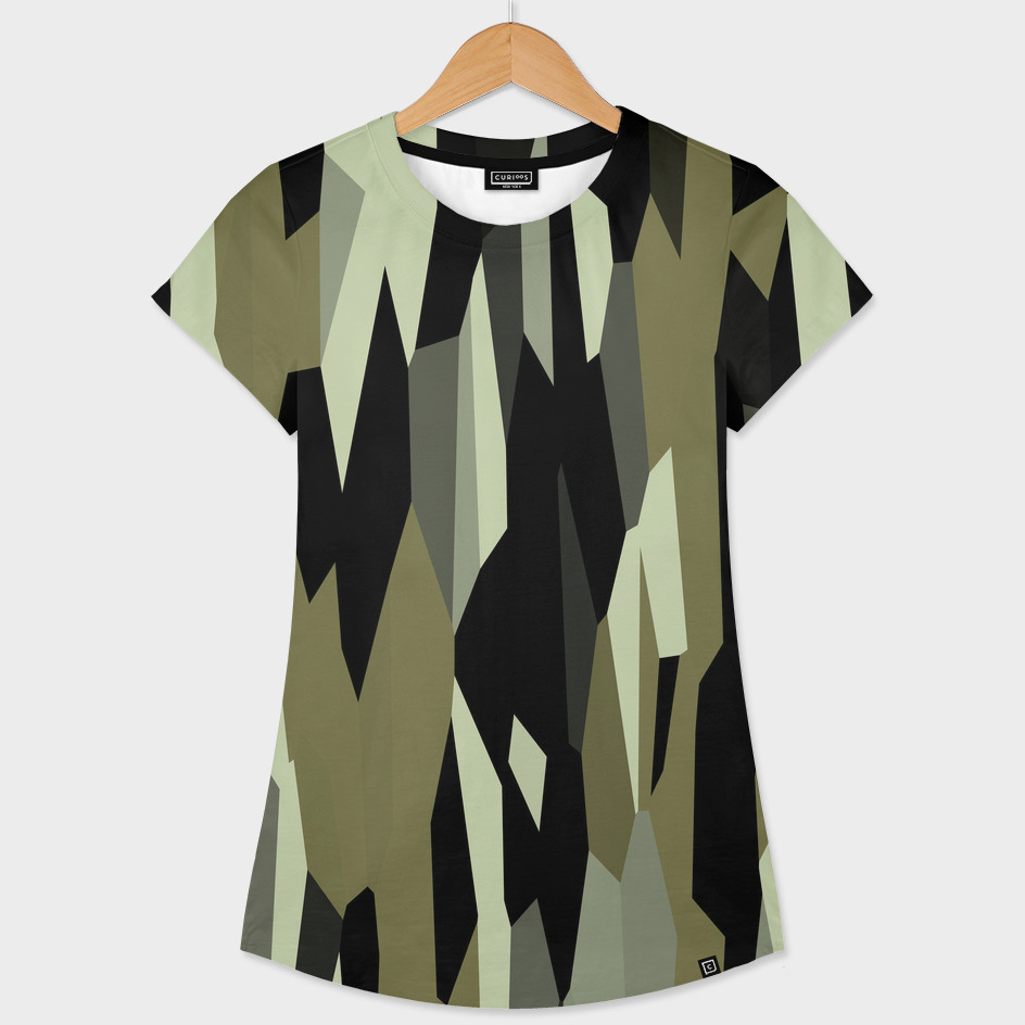 Olive and Black abstract