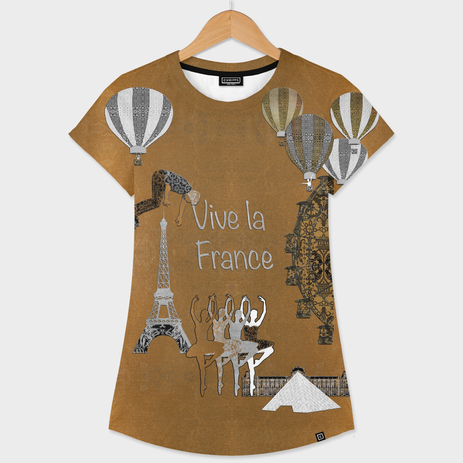 Vive La France (Gold Leaf Background)