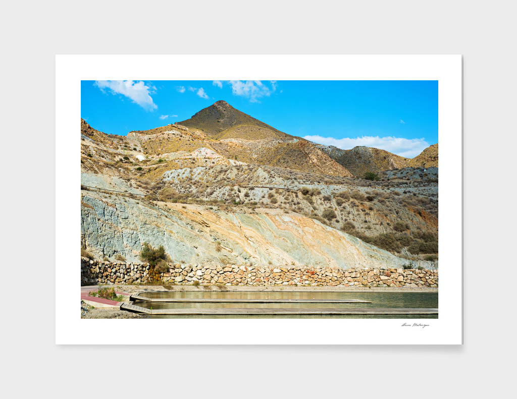 Landscape desert in Almeria, Andalusia, Spain