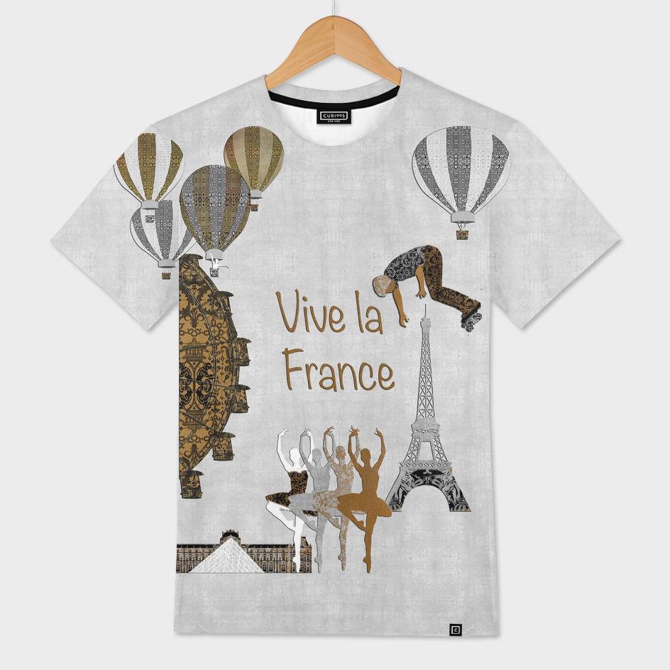 Vive La France (Silver Leaf Background)