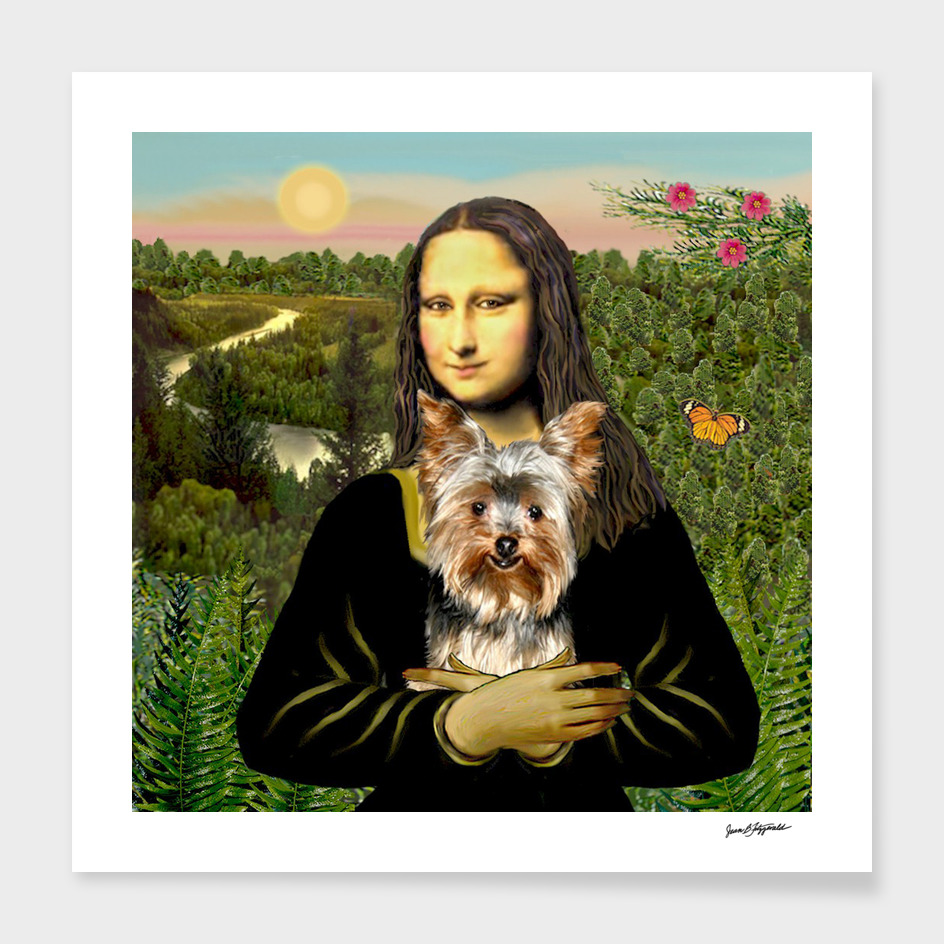 Mona Lisa & Her Yorkshire Terrier