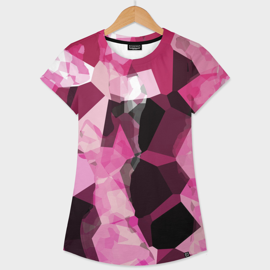 pink black and white abstract
