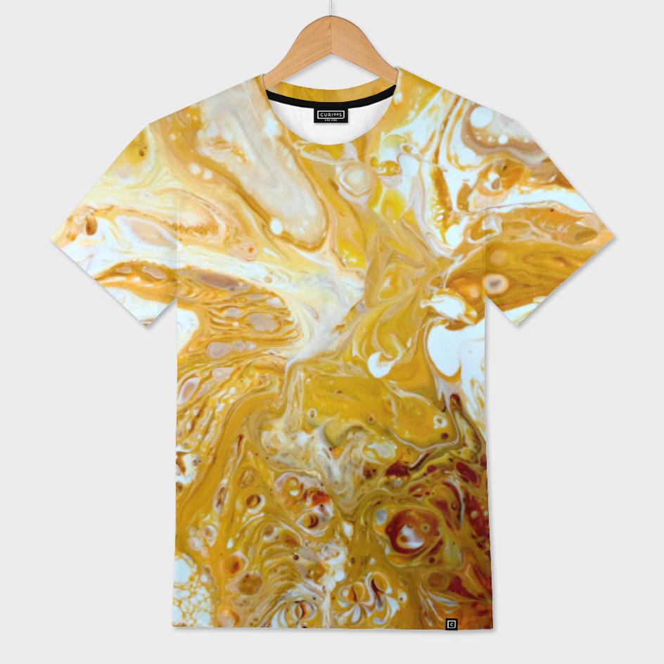 Orange Gold Cream Swirl