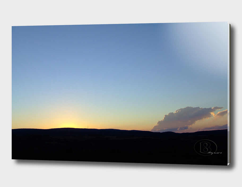 Sunset on Banstol B DSCF1082