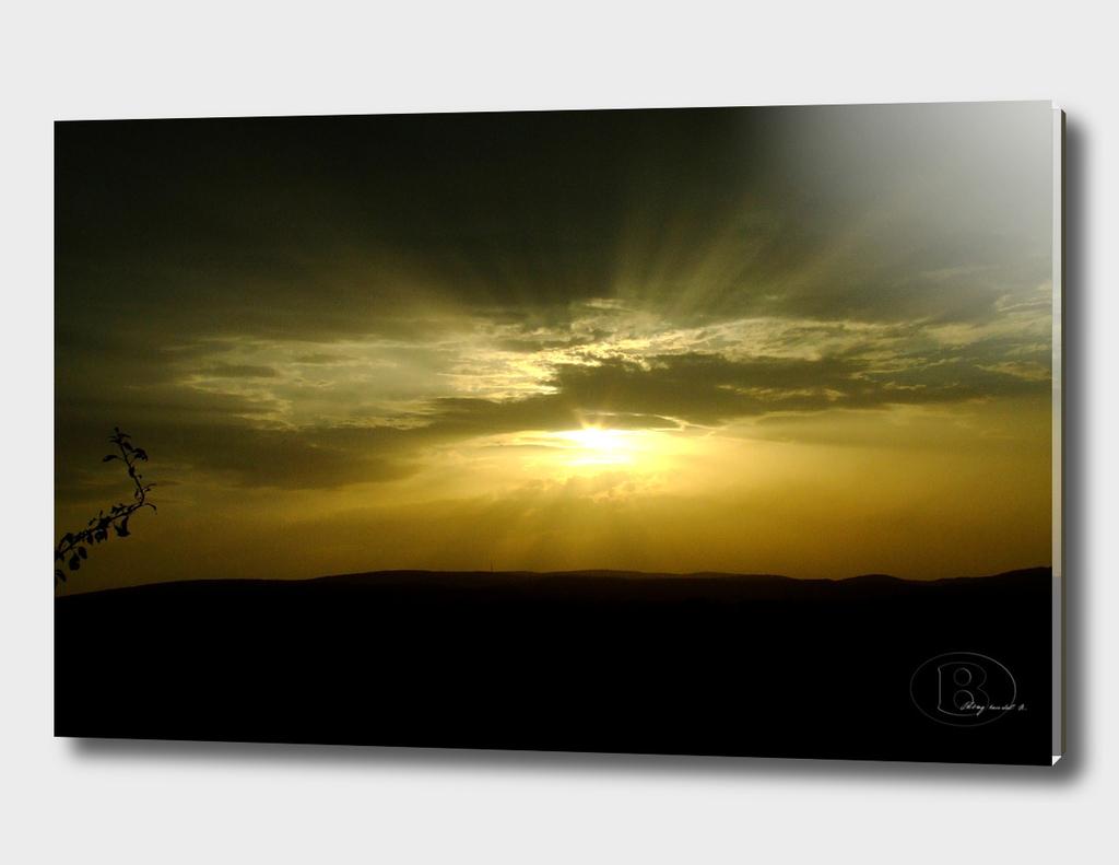 Sunset on Banstol B Dscf0149