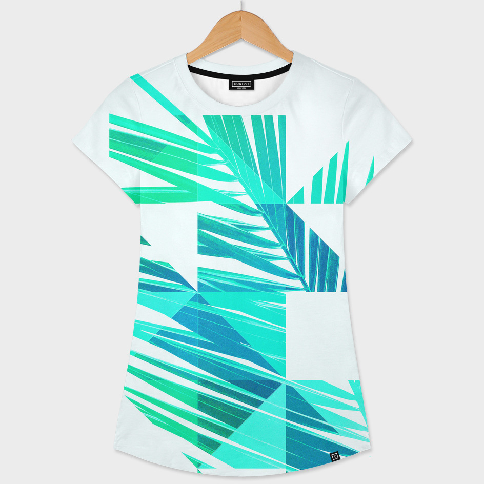 Geometric Palm leaves - Green