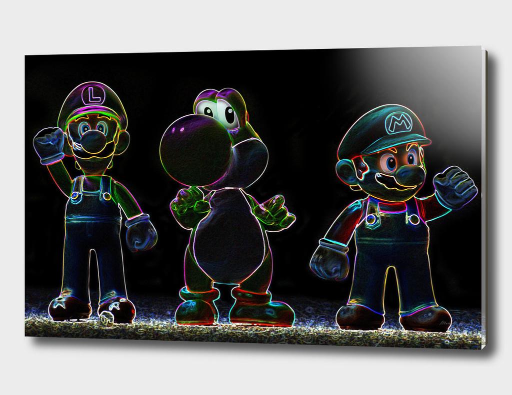 Luigi-Yoschi-Mario
