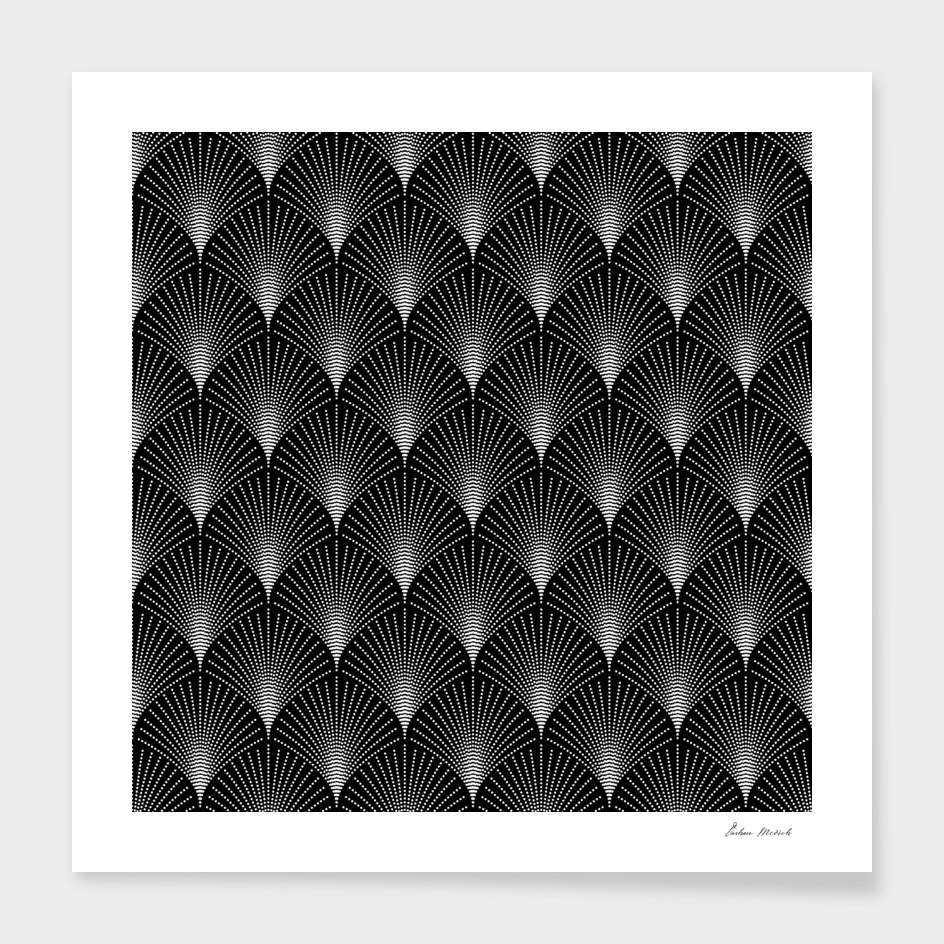Black And White Art-deco geometric Pattern