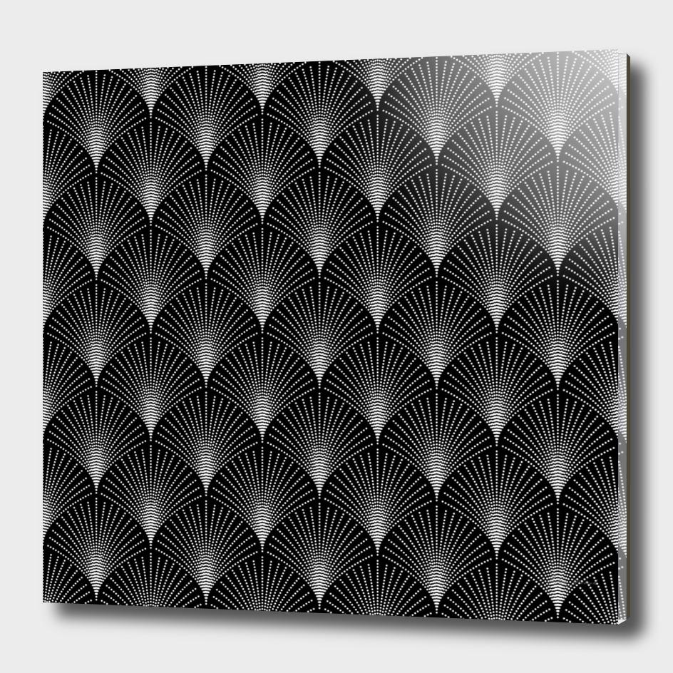 Black And White Art-deco geometric Pattern