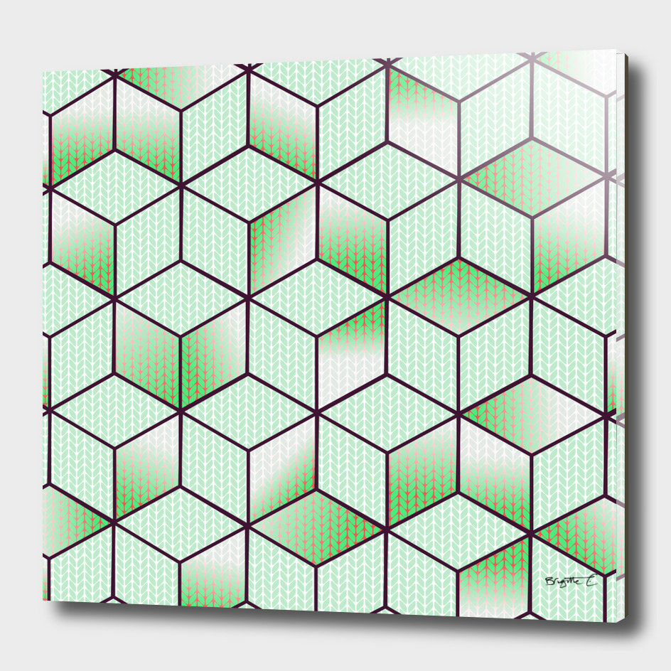 Electric Cubic Knited Effect Design