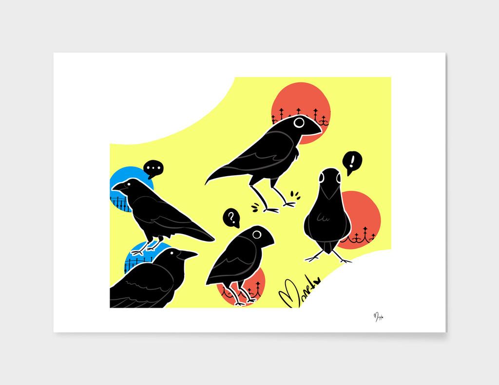 Cartoony Crows