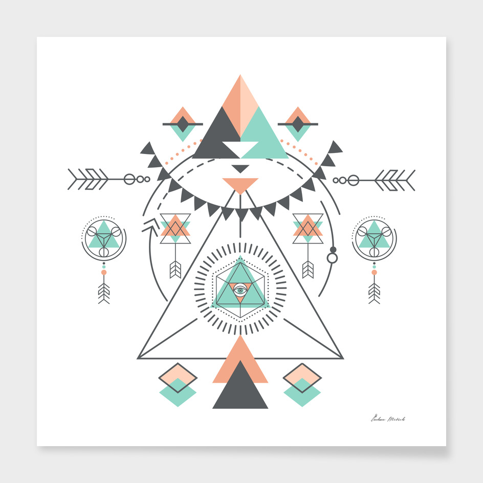 Colorful Geometric Tribal Totem