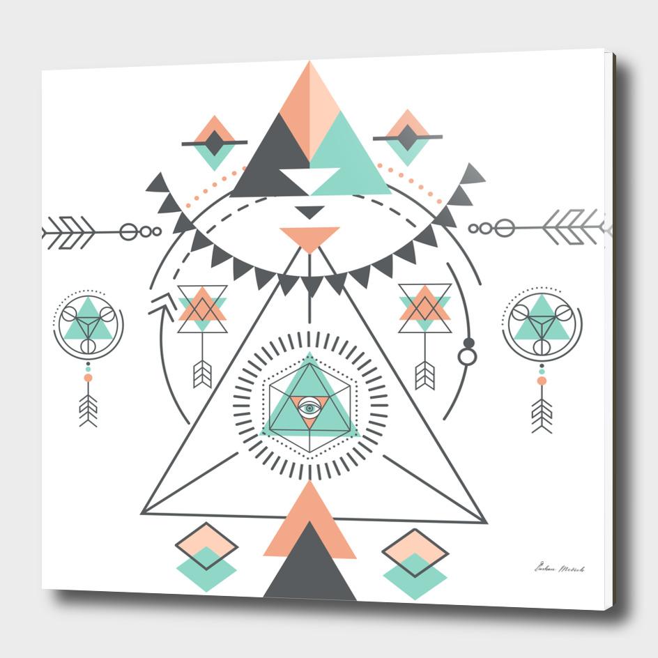 Colorful Geometric Tribal Totem