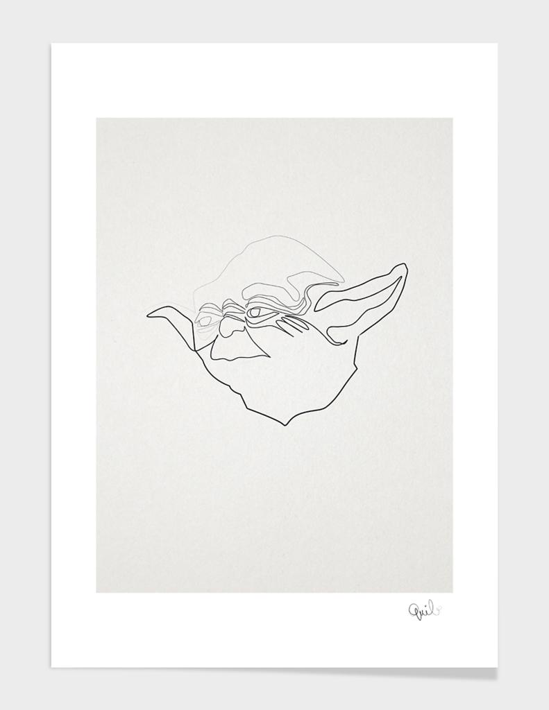 One Line Yoda