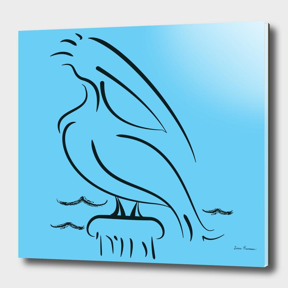 Perched Pier Pelican
