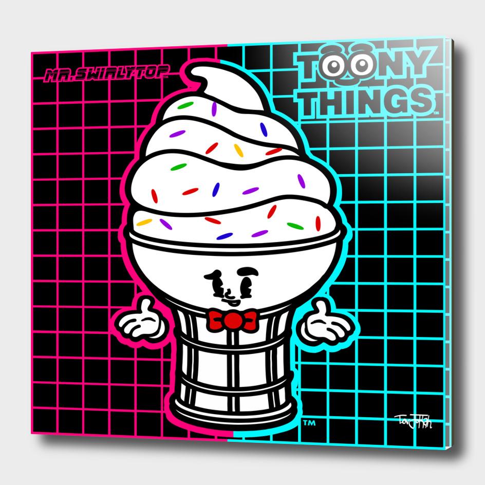 ToonyThings™ Series- Mr. SwirlyTop Neon
