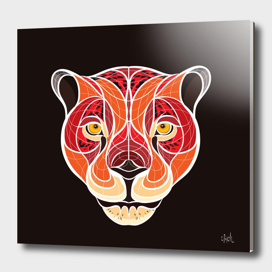 Fire Jaguar  White Outline