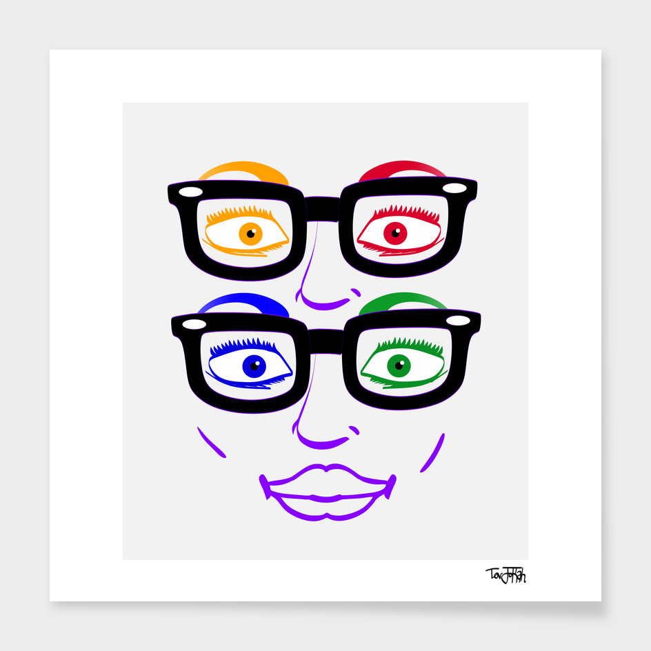 Abstract Four Eyes