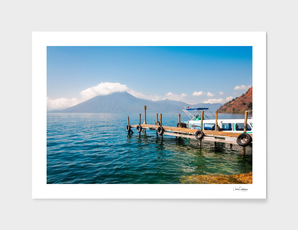 Astounding View of Volcano San Pedro at Lake Atitlan