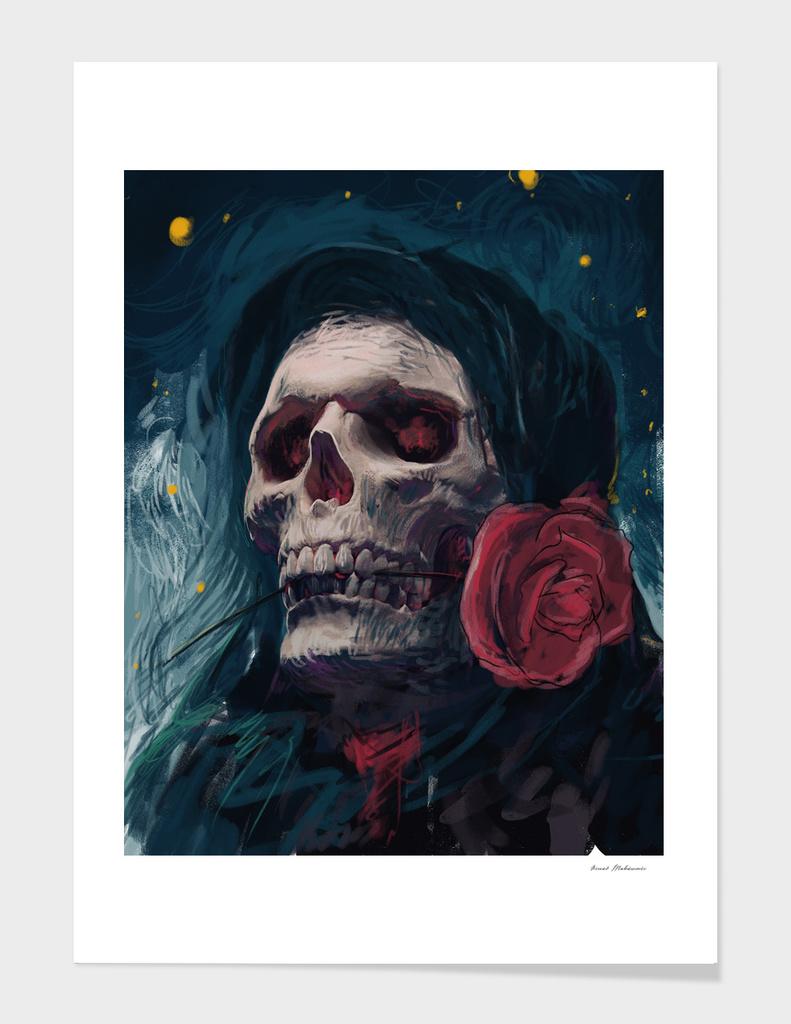 Skull in night