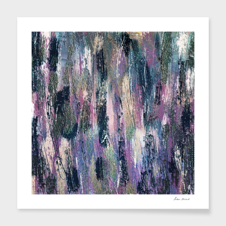 Colorful brush strokes abstract art