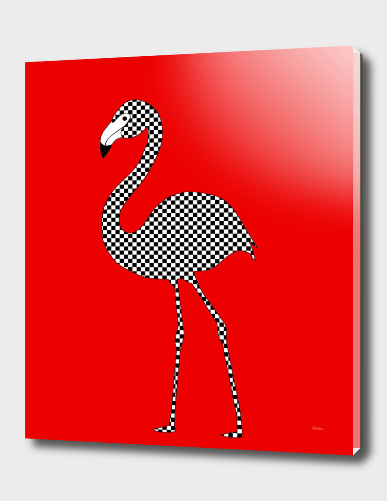Checkerboard Flamingo