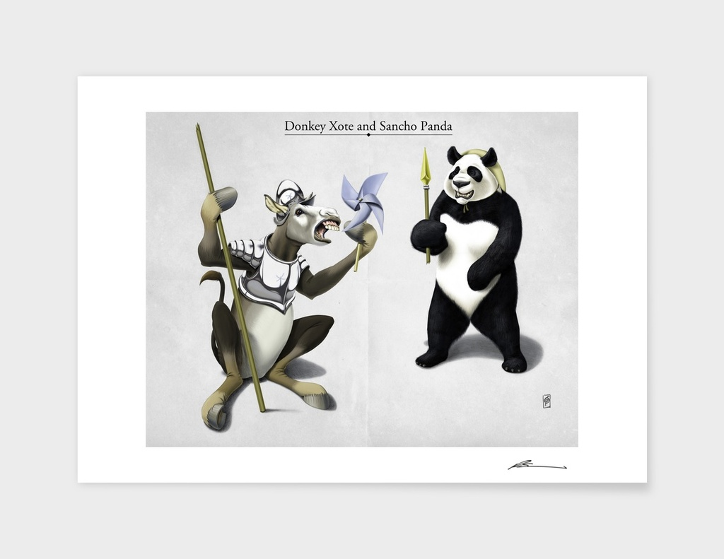 Donkey Xote and Sancho Panda