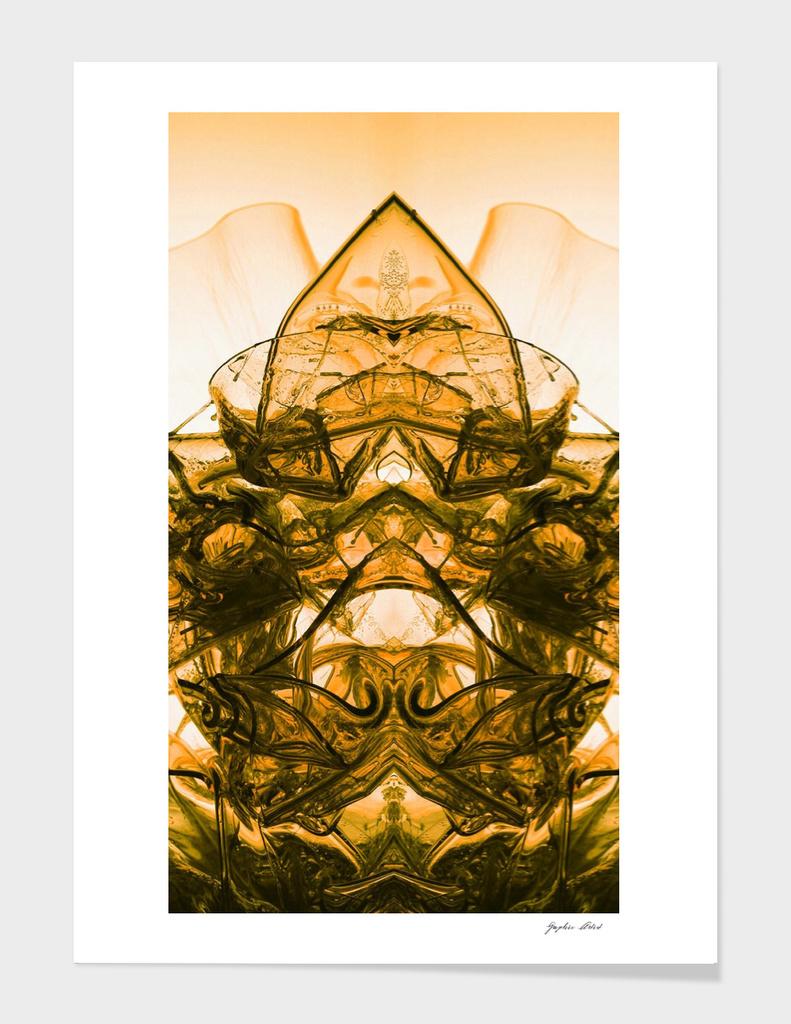 abstraction orandge smoke