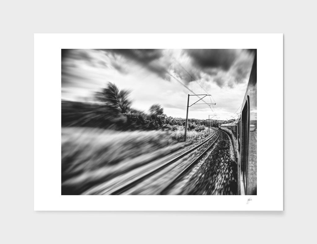 street photo By train