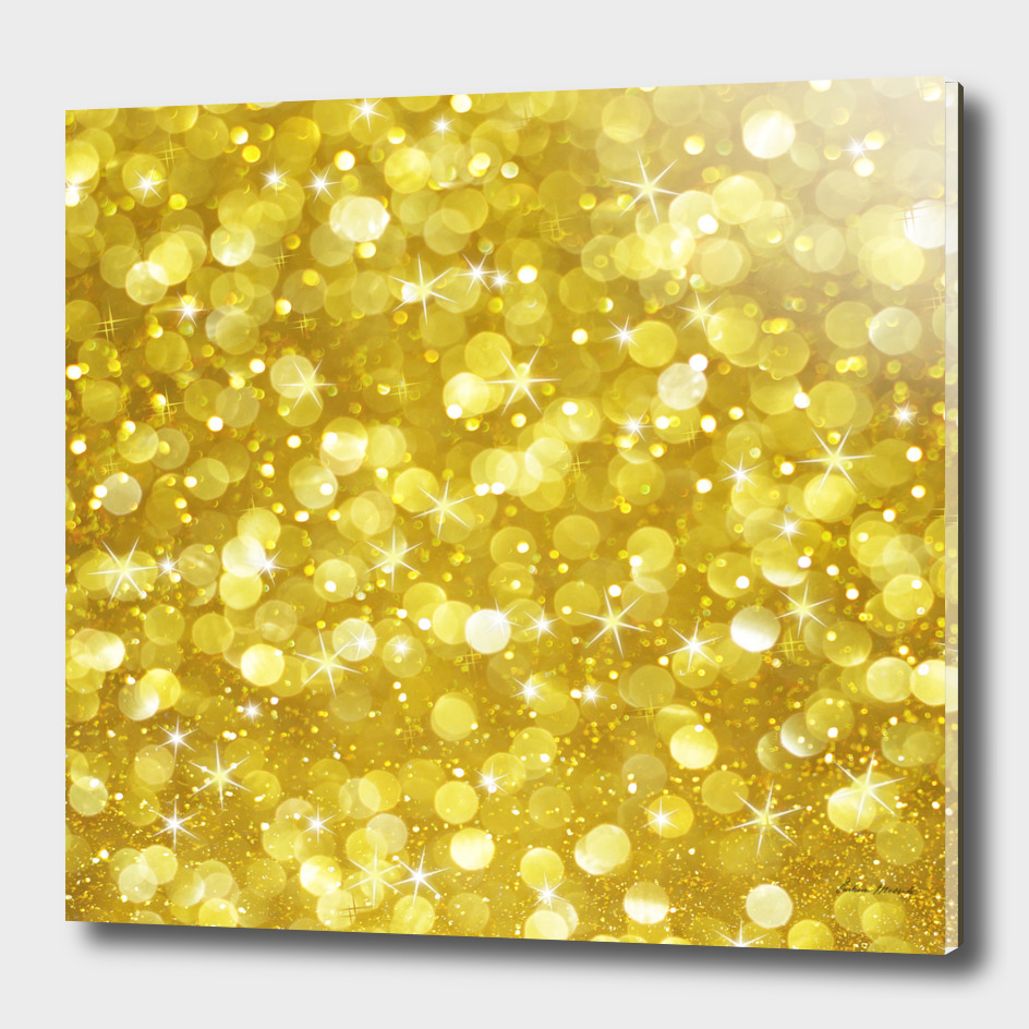 Glam gold bokeh glitter