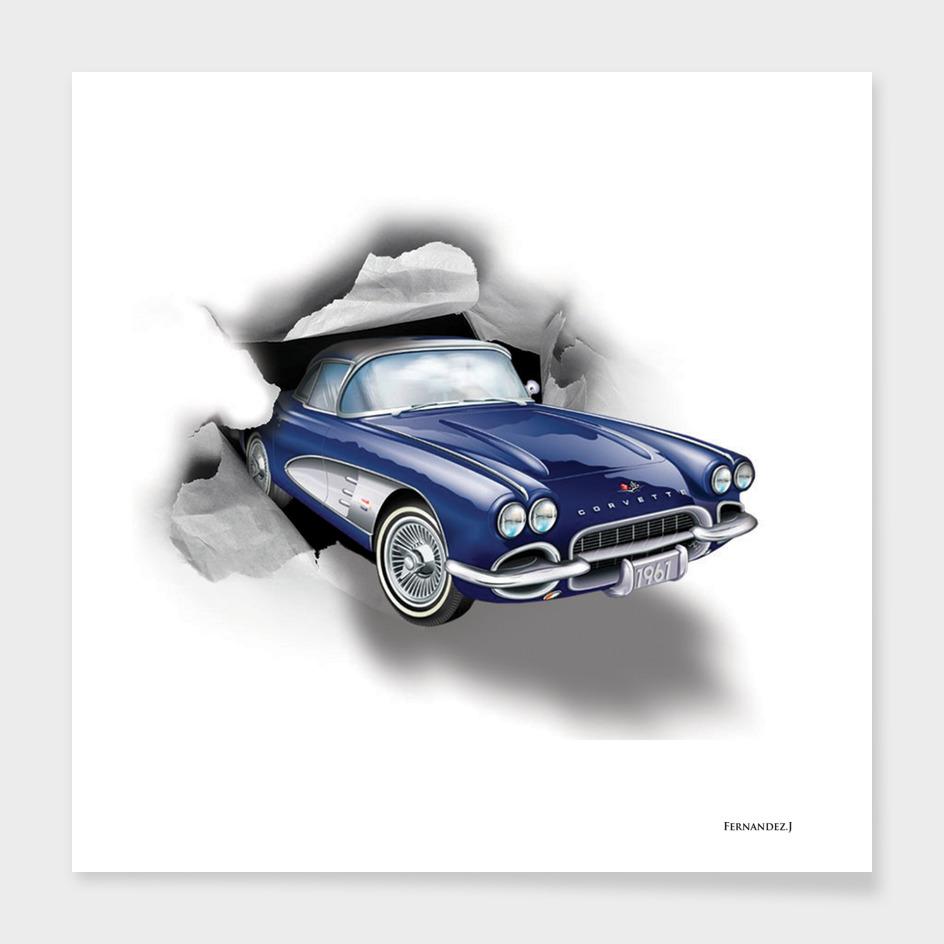 voiture bleu