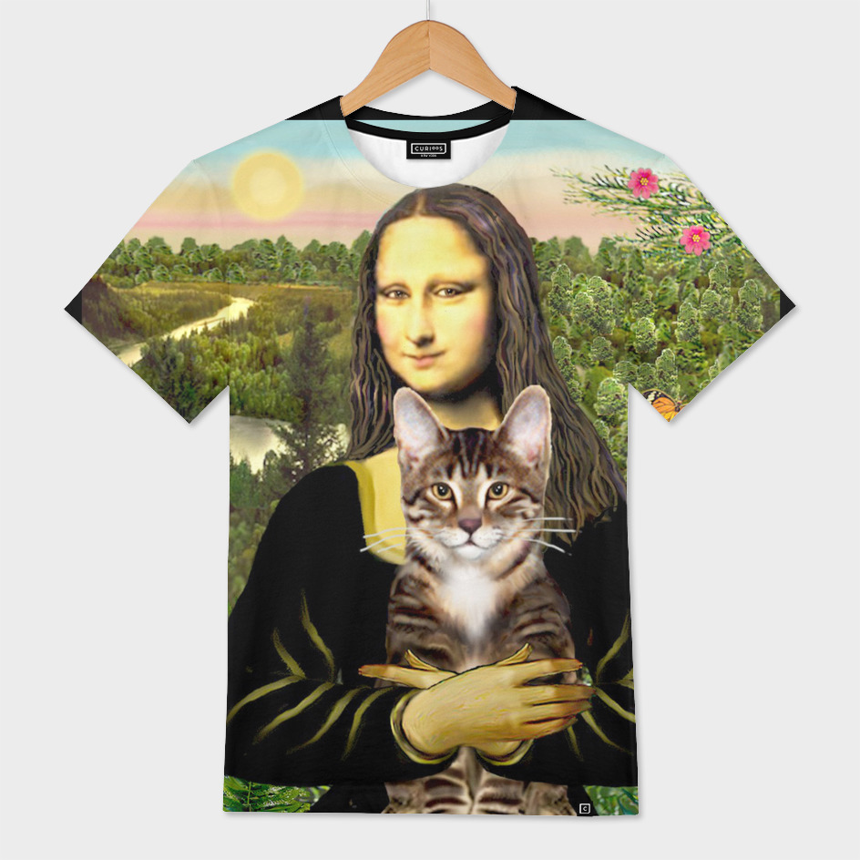Mona Lisa and her Brown Tabby Cat
