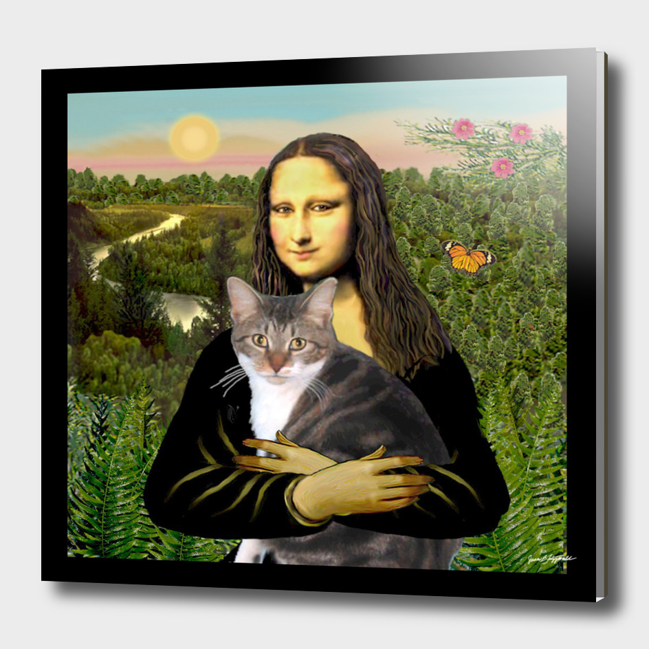 Mona Lisa and her Tri Color Cat