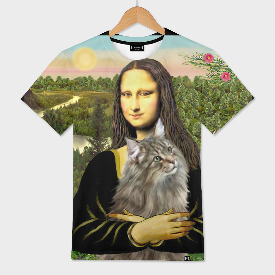 Mona Lisa and her Norwegian Forest Cat