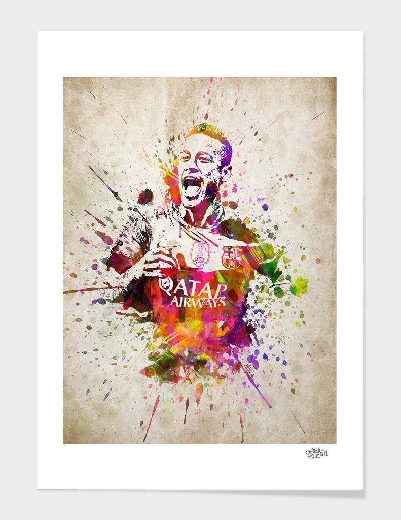 Neymar in color
