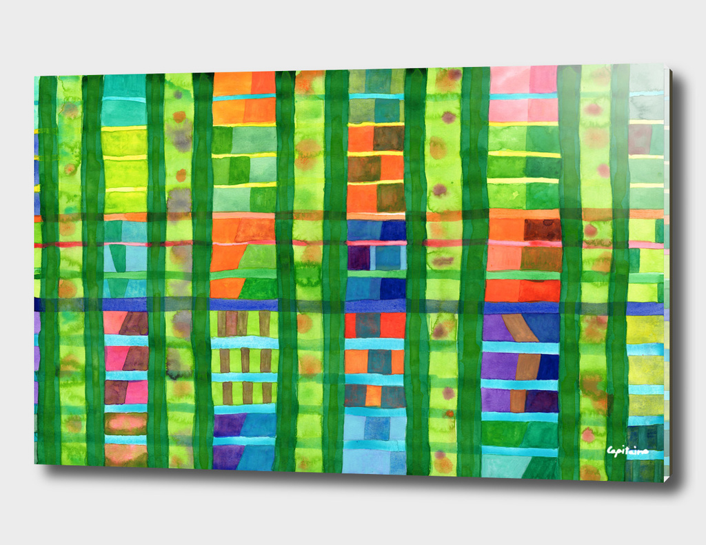 Colored Fields with Bamboo