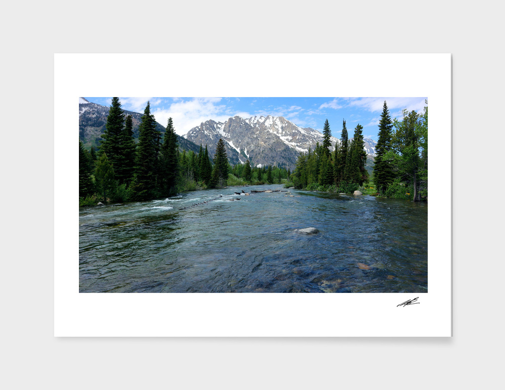 Grand Teton National Mountain Range