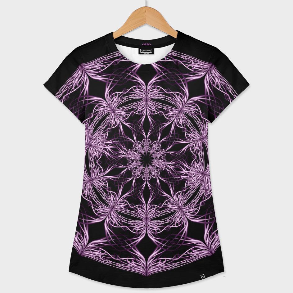 Mandala purple and black