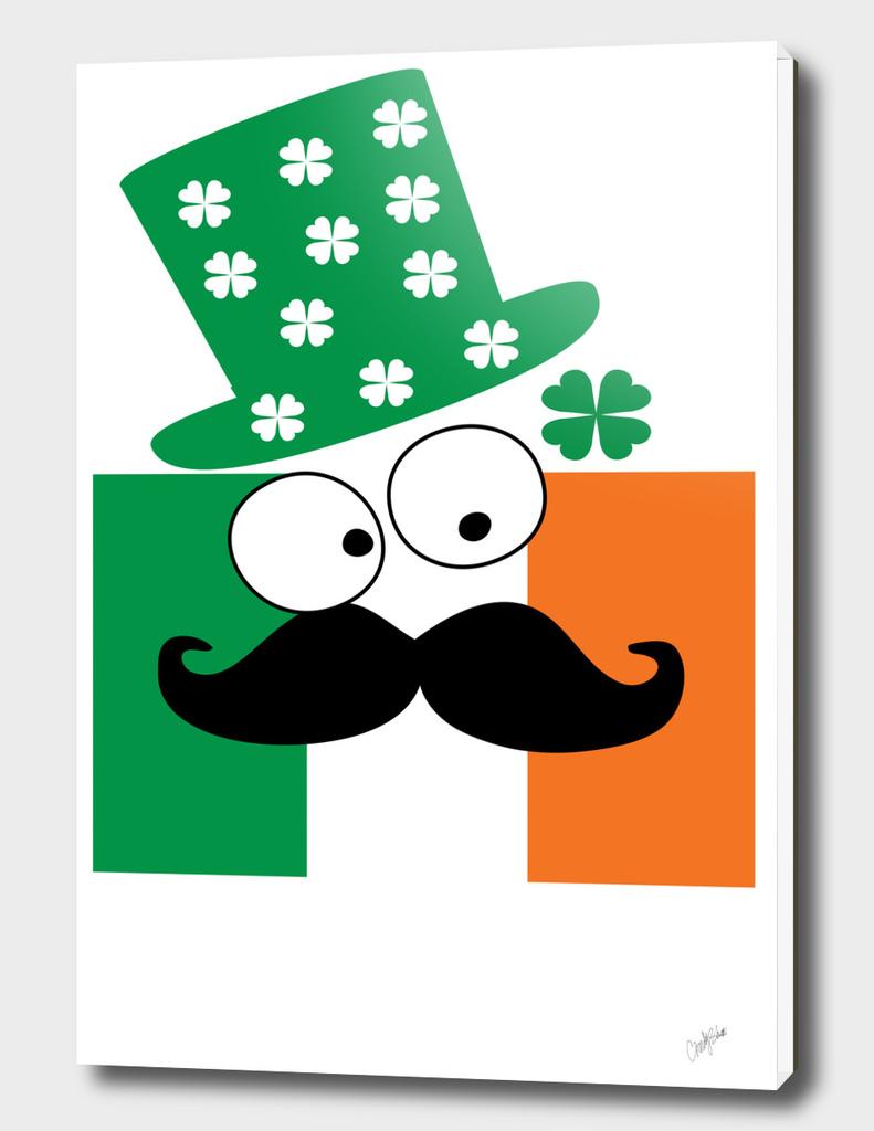 Irish mustache man