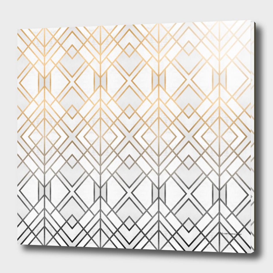 Gold And Grey Geo