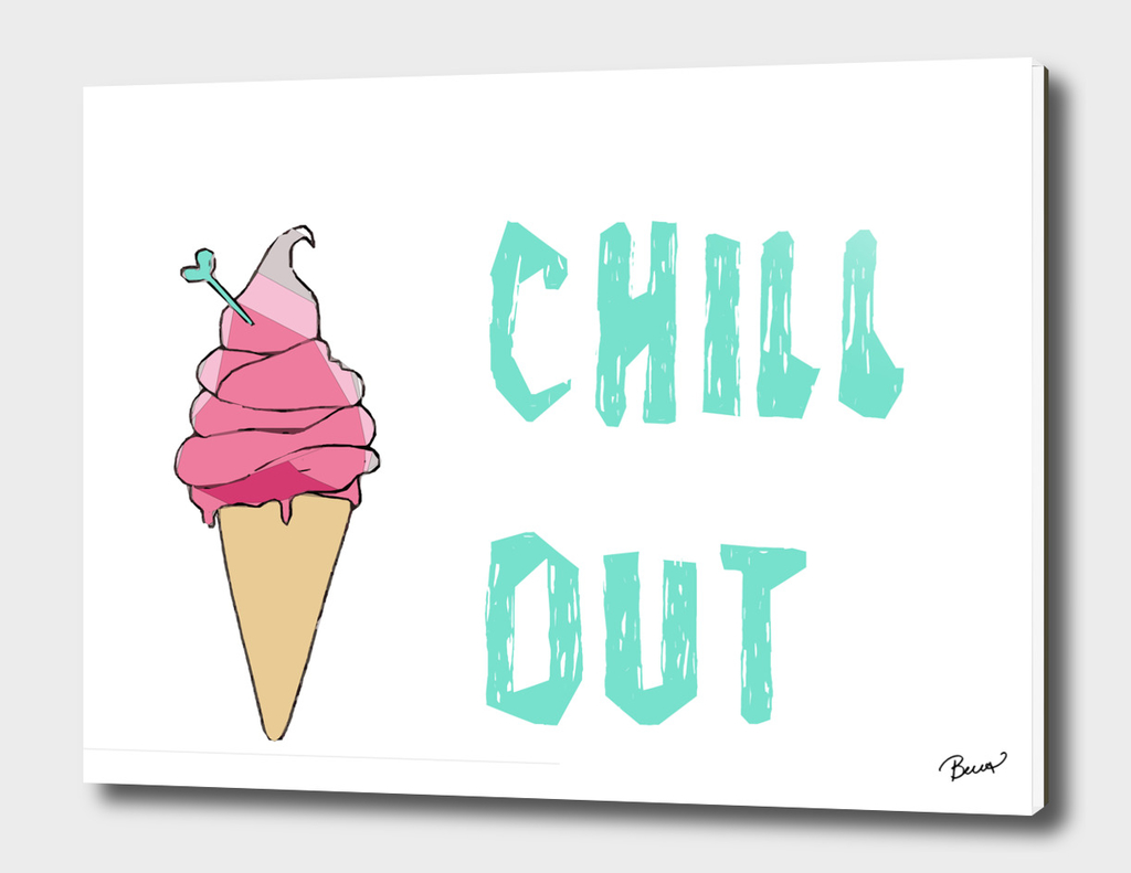 Chill Out Ice Cream Design