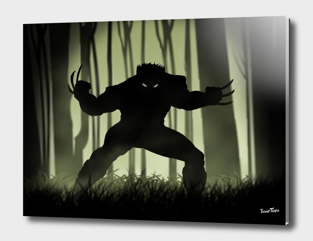 Logan in the woods