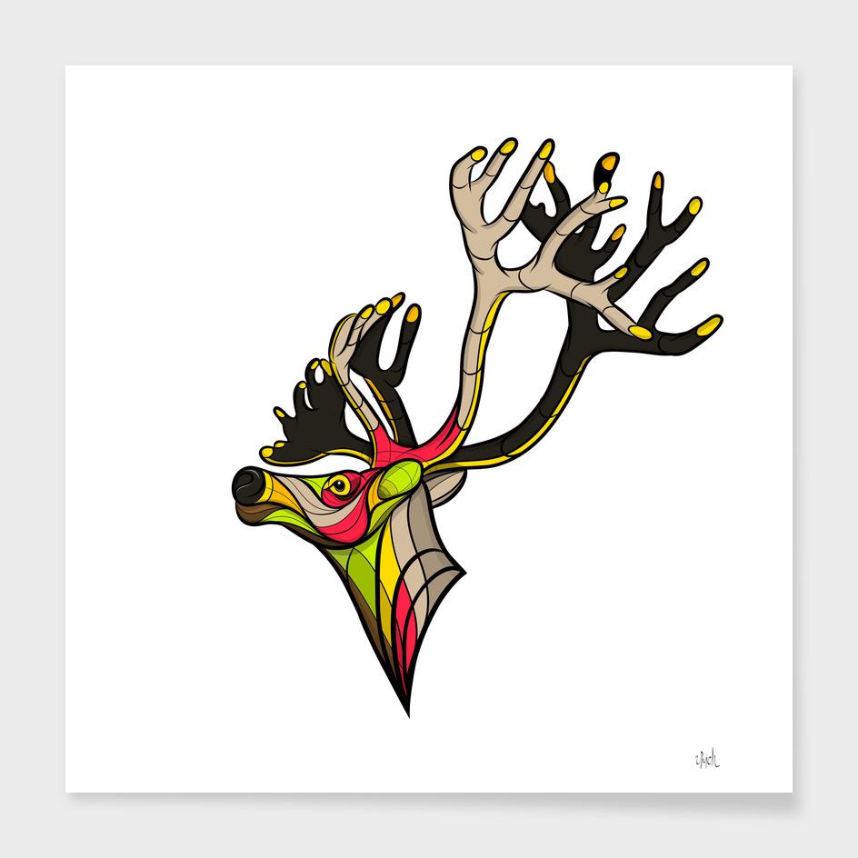 Neon Reindeer