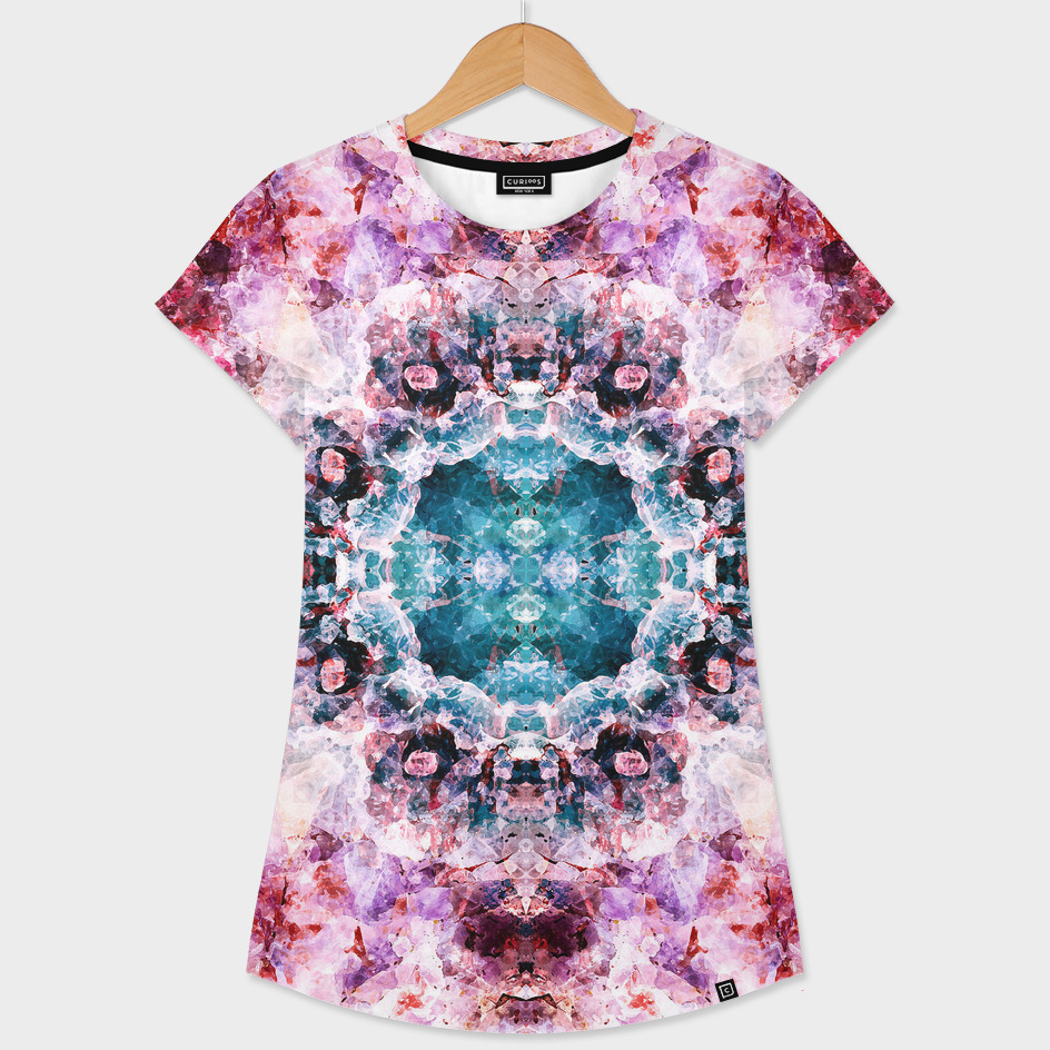Abstract purple and blue boho pattern
