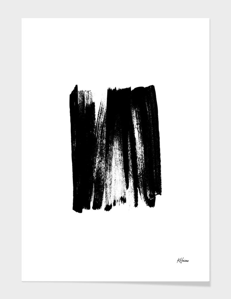 Black and White Brushstrokes