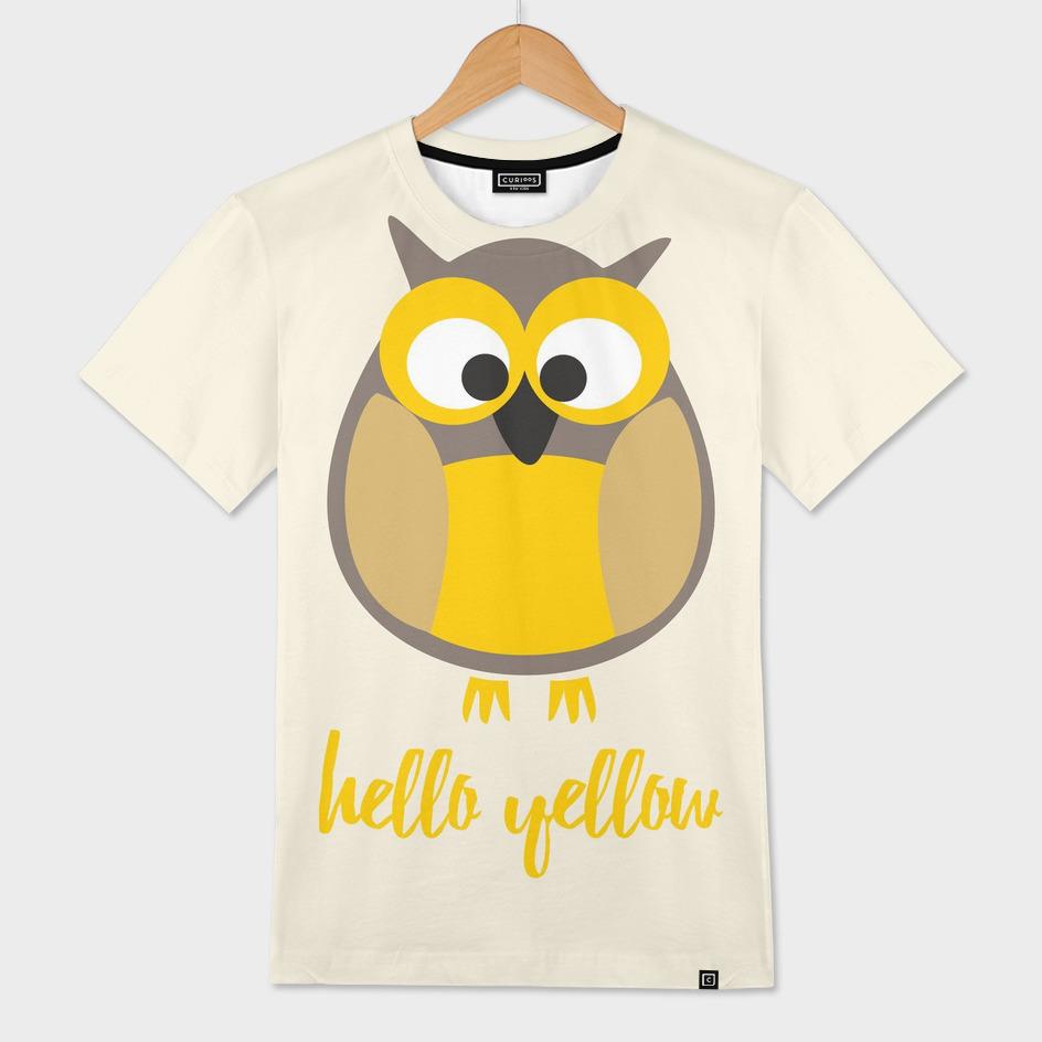 Hello yellow funny owl