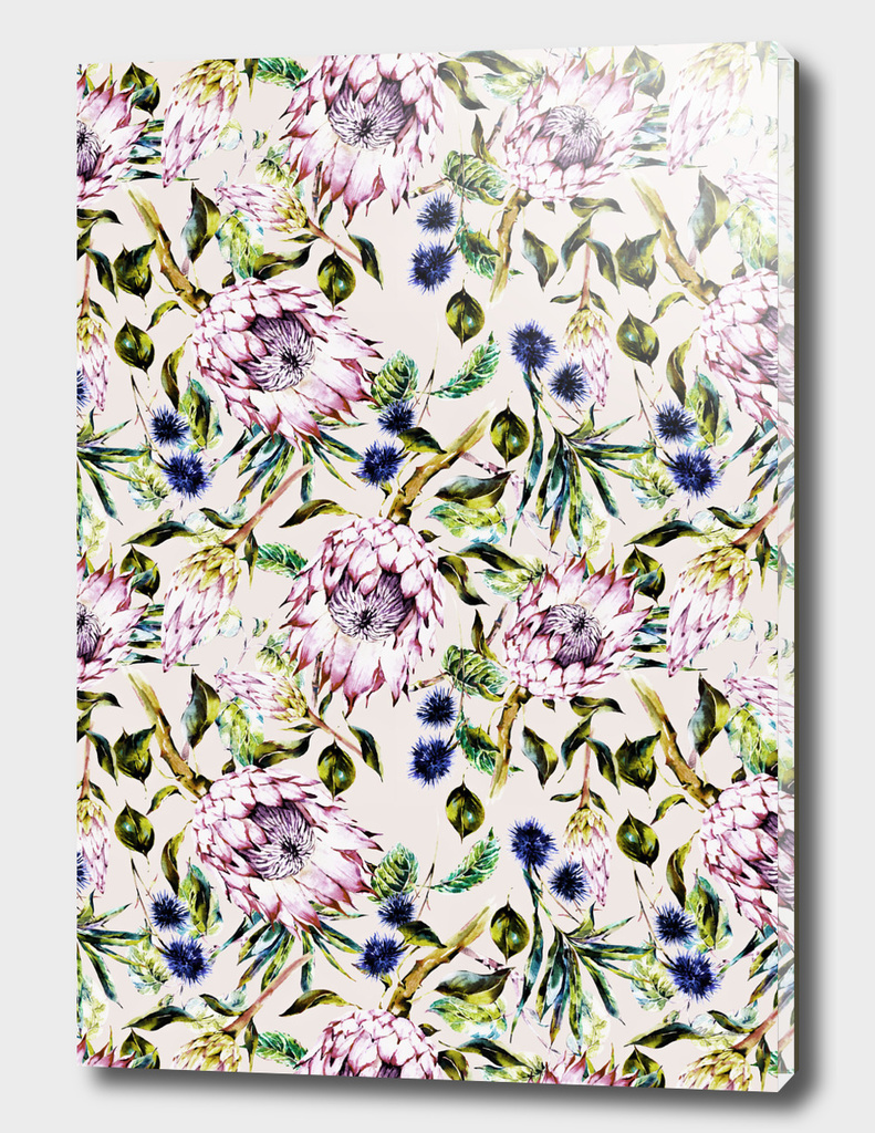 Pattern boho floral purple