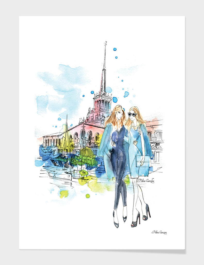 Sochi Seaport Fashion Illustration