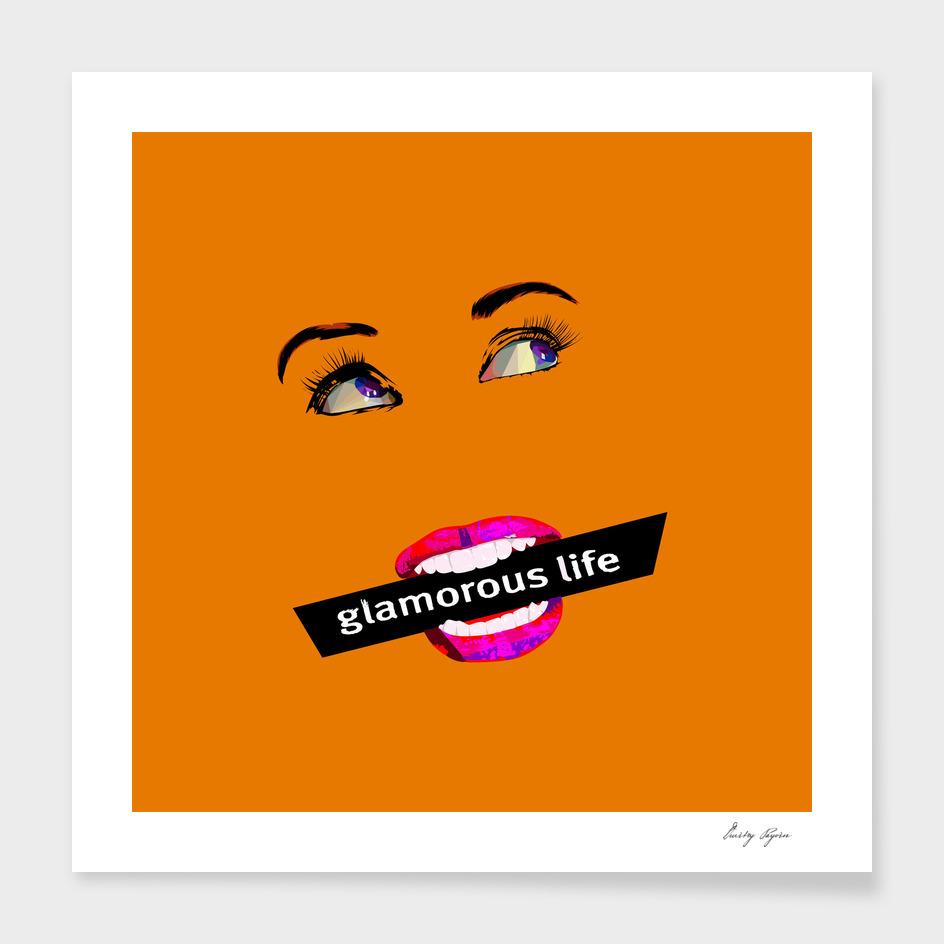 Glamour life pop art poster
